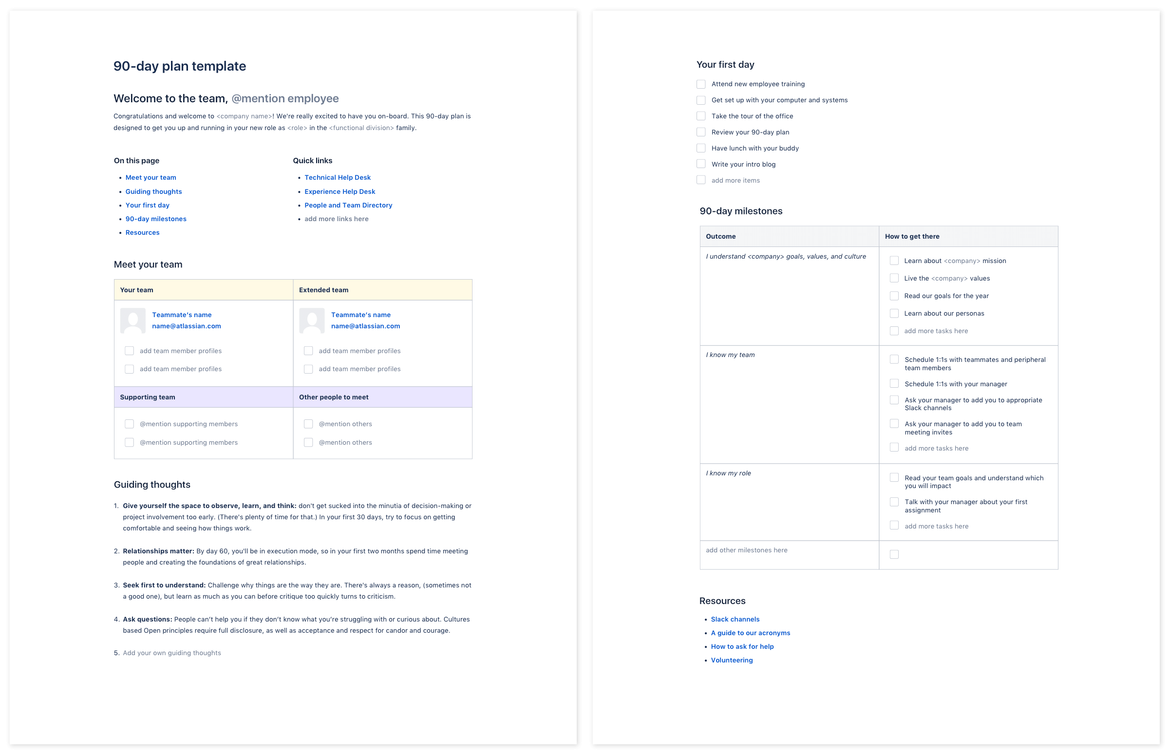 90 plan pdf for employee onboarding