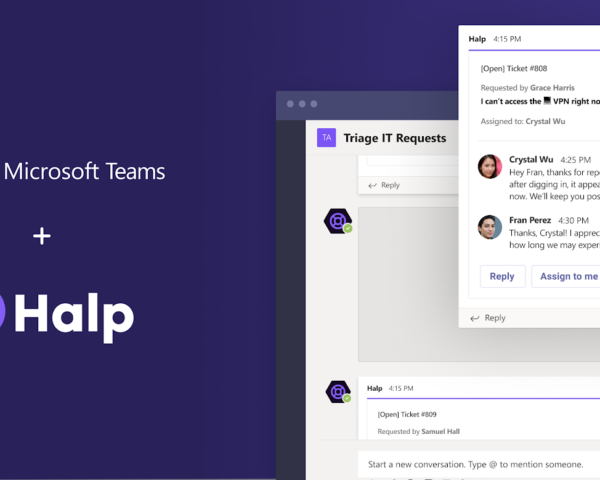 Halp brings help desk resolution directly into Microsoft Teams