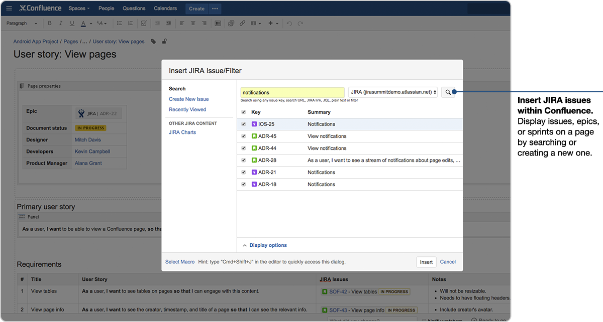 8097d1342d69 Display Jira Issues in Confluence  More power