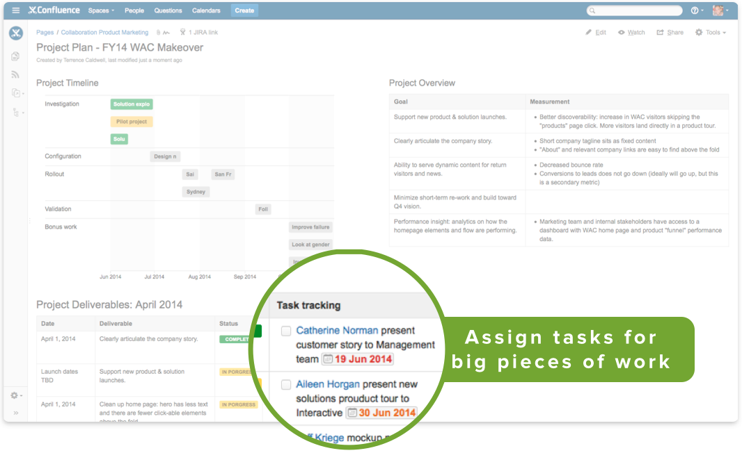 3 ways to keep your team on track with tasks in confluence